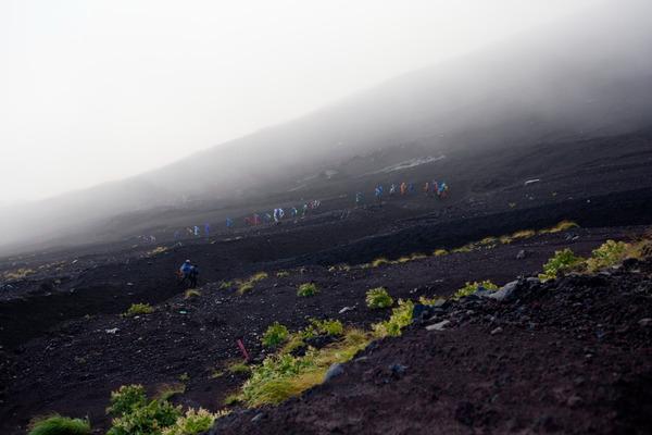 富士山の8合目