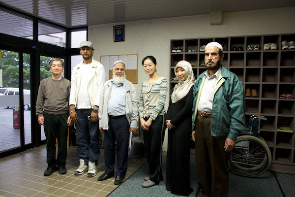 被災地で支援するイスラム教徒