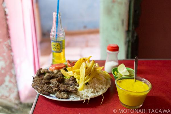 ペルーのランチ